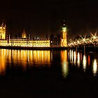 Houses of Parliament at night by Guy Carpenter