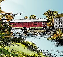 Redman Bridge, Indiana by MarkArt
