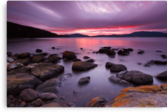 Sunrise Near Ninepin Point, Tasmania by Chris Cobern