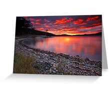 Sunrise Near Ninepin Point, Tasmania #4 Greeting Card
