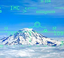Mt. Rainier Through the HUD by Mike Hendren