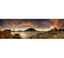 Mount Mauao Rust Dusk Photographic Print