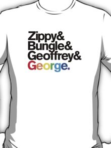 Rainbow - Zippy & Bungle & Geoffrey & George T-Shirt