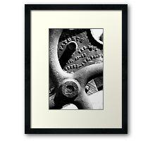 Grinder Wheel Framed Print