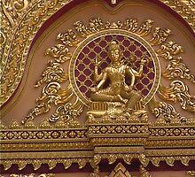 Buddhist Carving Wat Pha Nam Yoi Roi Et Thailand by Hugh Fathers