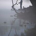 Fisherman at Norris Dam by Shayna Sharp