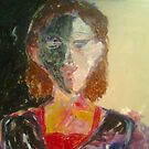 "Oil....""Stark and bare"": The Reclusive Woman by dante WIP.... by tim norman"