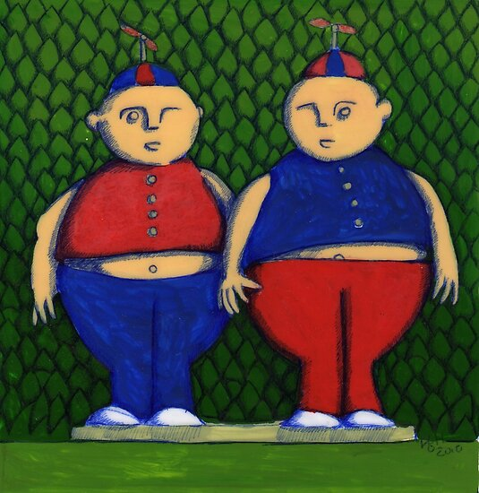 Tweedles in Colour (SOLD) by Donna Huntriss
