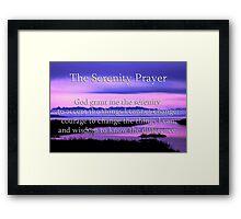 scenic serenity prayer Framed Print
