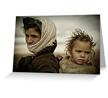 Nomads of High Atlas Mountains Greeting Card