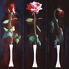 """Romance"" three red roses  by James  Knowles"