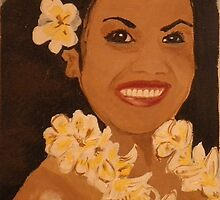Hawaiian woman smiling  by kreativekate