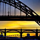 Tyne bridges at dusk by David  Parkin