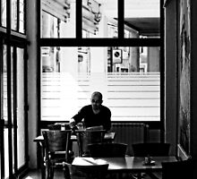Arles: Saturday morning in a café by Stefan Stuart-Fletcher
