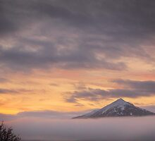 Misty Sunrise over Schiehallion by Paul  Gibb