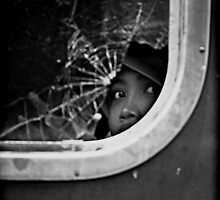 A Face Behind The Broken Window by RONI PHOTOGRAPHY