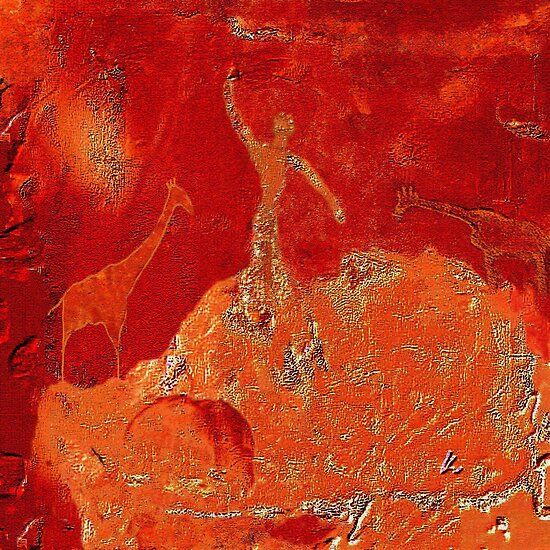 Animals - Rock Paintings 2001 by Marlies Odehnal