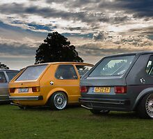 The MIVW Mk1 Golf's at Edition38 2010 by Gareth Spiller