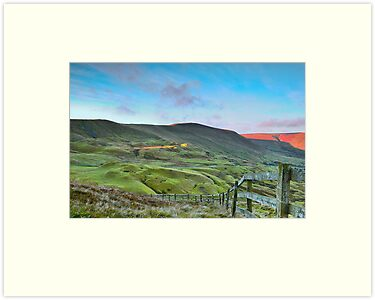 """The Great Ridge from Mam Tor""  The Peak District  by James  Key"