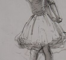 ink and pencil ballerina by Joanna Fountain