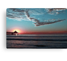 Setting The Sun In a Wintery Sky Canvas Print