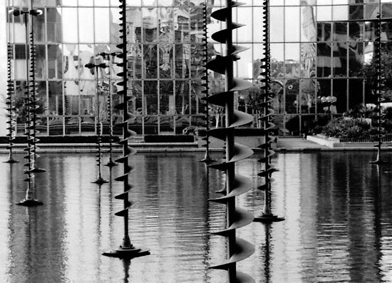 Pond sculptures. La Défense ,Paris  by LynnEngland