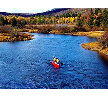 Autumn Canoeing In The Adirondacks Photographic Print