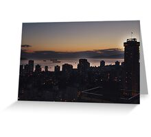 Vancouver Evening Greeting Card
