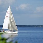 Sailboat on Lake Monroe by Ben Waggoner