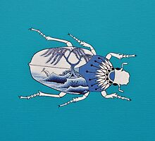 Segment from ' Blue Willow Beetles' by Trudi Hipworth