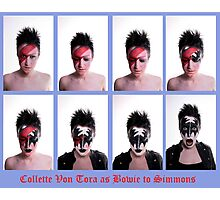 Collette Von Tora Morphs From Bowie To Simmons Photographic Print