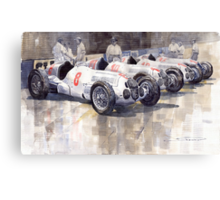 1937 Monaco GP Team Mercedes Benz W125 Canvas Print