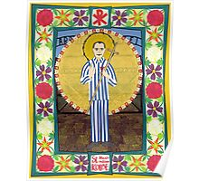 Icon of St. Maximilian Kolbe Poster