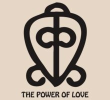 T-Shirt Adinkra Symbol: Power of Love by Keith Richardson