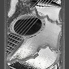 Cracked Metallic Abstract Gaitar by susan stone