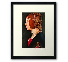 Leonardo's Beatrice Framed Print