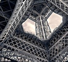 Inside the Eiffel Tower by ea-photos