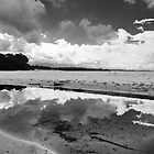 Reflected clouds, Jervis Bay by Margaret Whyte