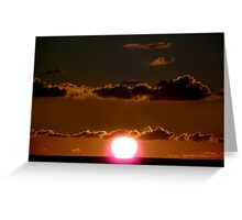Sunset Over The Ocean Greeting Card