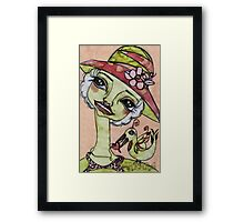 LADY PINK Framed Print