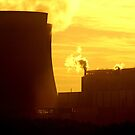 Powerstation and sunset, Beauty and the beast. by Lee Van Hallam