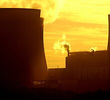 Powerstation and sunset, Beauty and the beast. by Lee Hallam