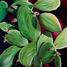 """Nopal"" - oil painting of a Mexican cactus by James  Knowles"