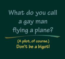 BIGOT:  GAY PILOT by dragonindenver