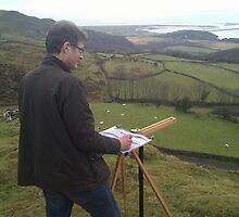 Painting on location, Wales by Martin Williamson (©cobbybrook)