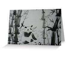Panda snack time Greeting Card