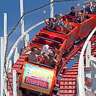 Wooden Roller Coaster (Santa Cruz, California) by Brendon Perkins