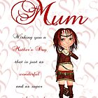 Mum Mother's Day Card With Cute Elf by Moonlake