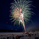 WINTER CARNIVAL FIREWORKS by Charlene Aycock