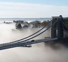 Clouds under the Clifton Suspension Bridge by philrwesty